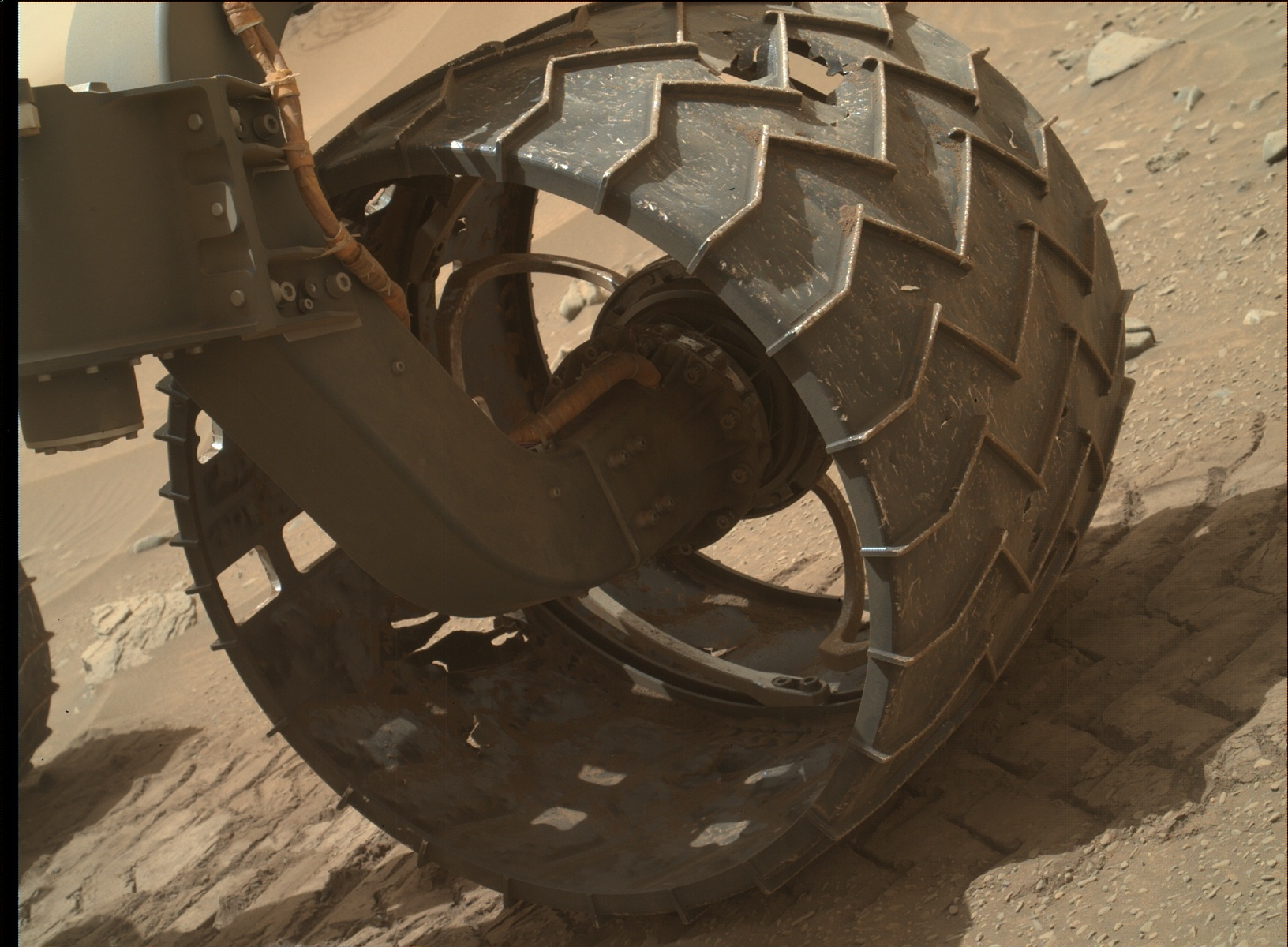 Nasa's Mars rover Curiosity acquired this image using its Mars Hand Lens Imager (MAHLI) on Sol 1046