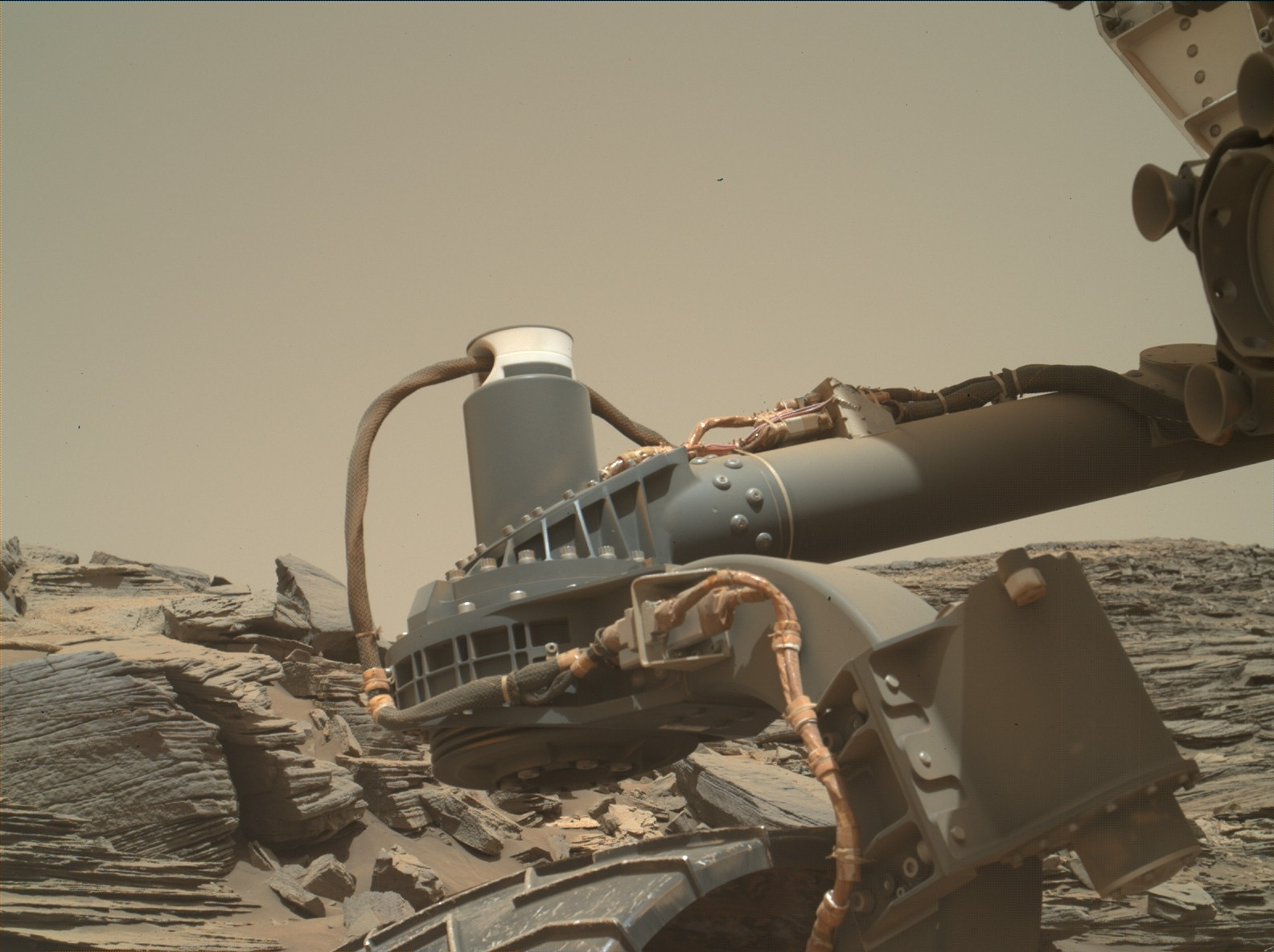 Nasa's Mars rover Curiosity acquired this image using its Mars Hand Lens Imager (MAHLI) on Sol 1065