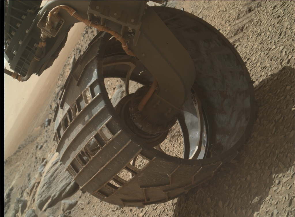 NASA's Mars rover Curiosity acquired this image using its Mars Hand Lens Imager (MAHLI) on Sol 1076