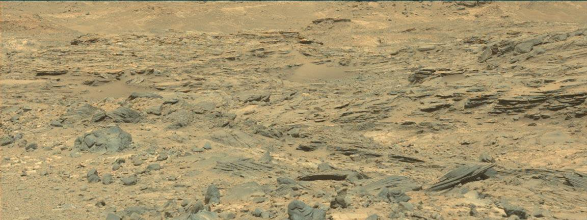 Nasa's Mars rover Curiosity acquired this image using its Mast Camera (Mastcam) on Sol 1077