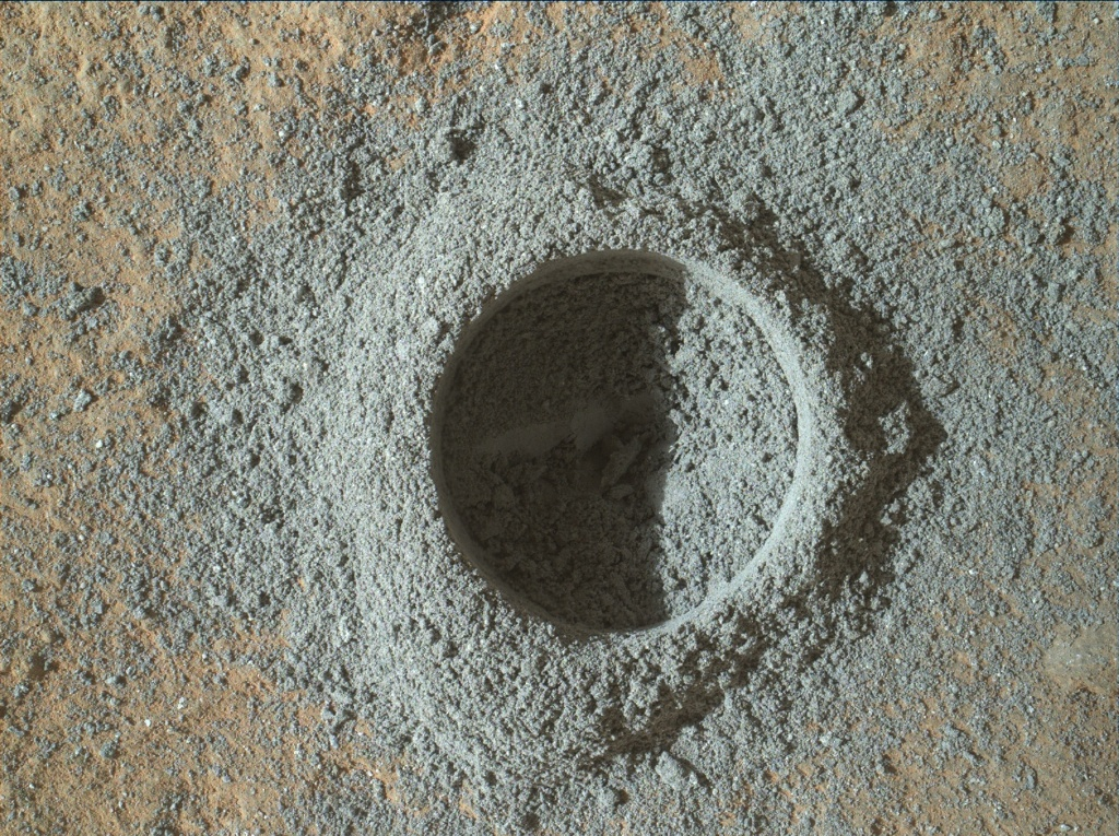 NASA's Mars rover Curiosity acquired this image using its Mars Hand Lens Imager (MAHLI) on Sol 1117