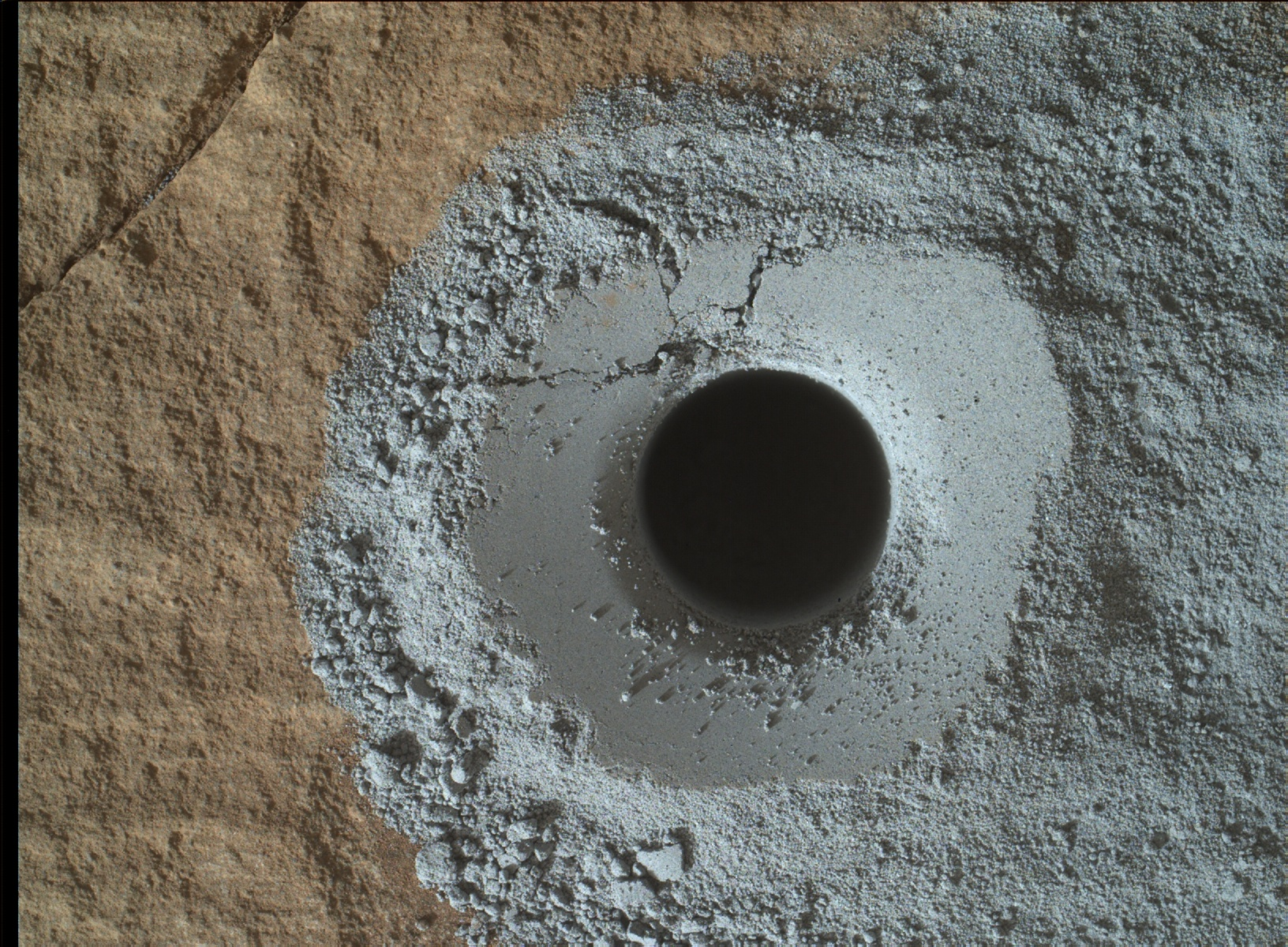 Nasa's Mars rover Curiosity acquired this image using its Mars Hand Lens Imager (MAHLI) on Sol 1137