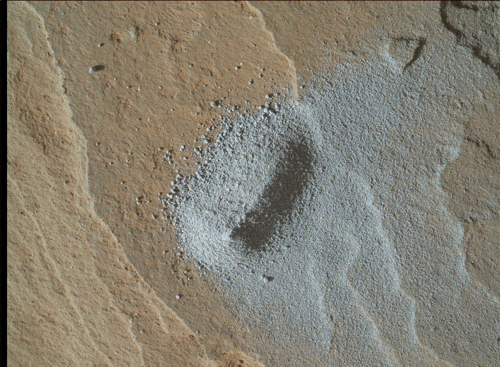Nasa's Mars rover Curiosity acquired this image using its Mars Hand Lens Imager (MAHLI) on Sol 1143
