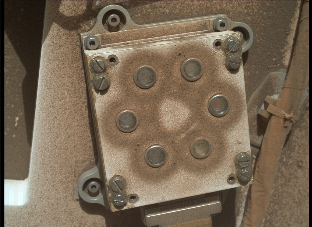 NASA's Mars rover Curiosity acquired this image using its Mars Hand Lens Imager (MAHLI) on Sol 1166