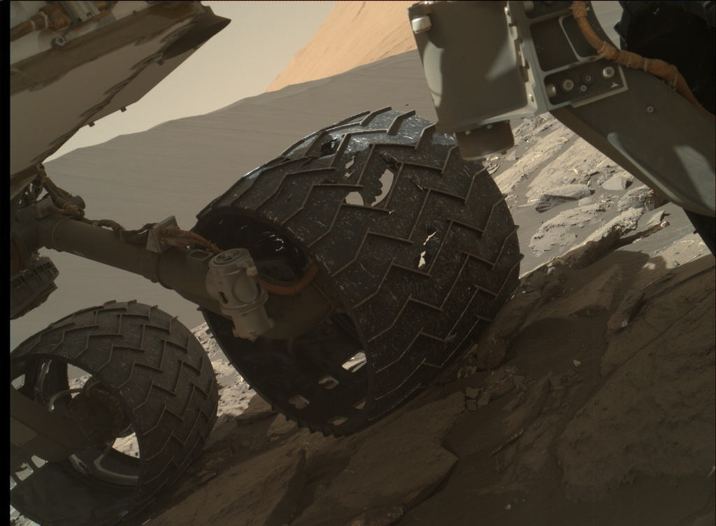 NASA's Mars rover Curiosity acquired this image using its Mars Hand Lens Imager (MAHLI) on Sol 1214