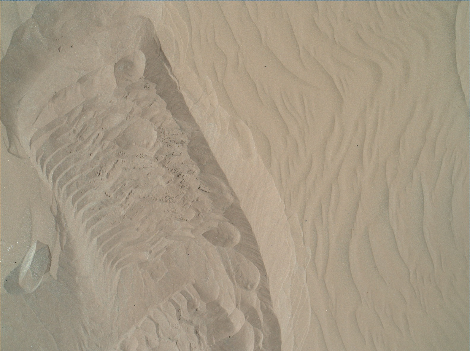 Nasa's Mars rover Curiosity acquired this image using its Mars Hand Lens Imager (MAHLI) on Sol 1228
