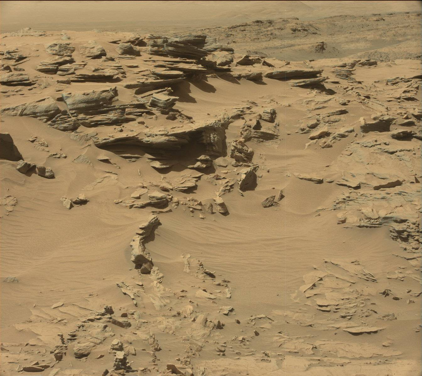 Nasa's Mars rover Curiosity acquired this image using its Mast Camera (Mastcam) on Sol 1296