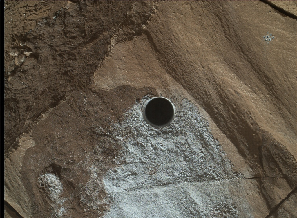 NASA's Mars rover Curiosity acquired this image using its Mars Hand Lens Imager (MAHLI) on Sol 1321