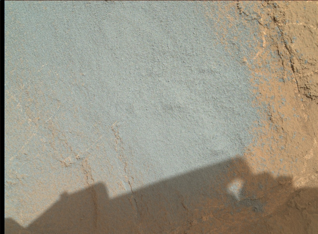 NASA's Mars rover Curiosity acquired this image using its Mars Hand Lens Imager (MAHLI) on Sol 1358