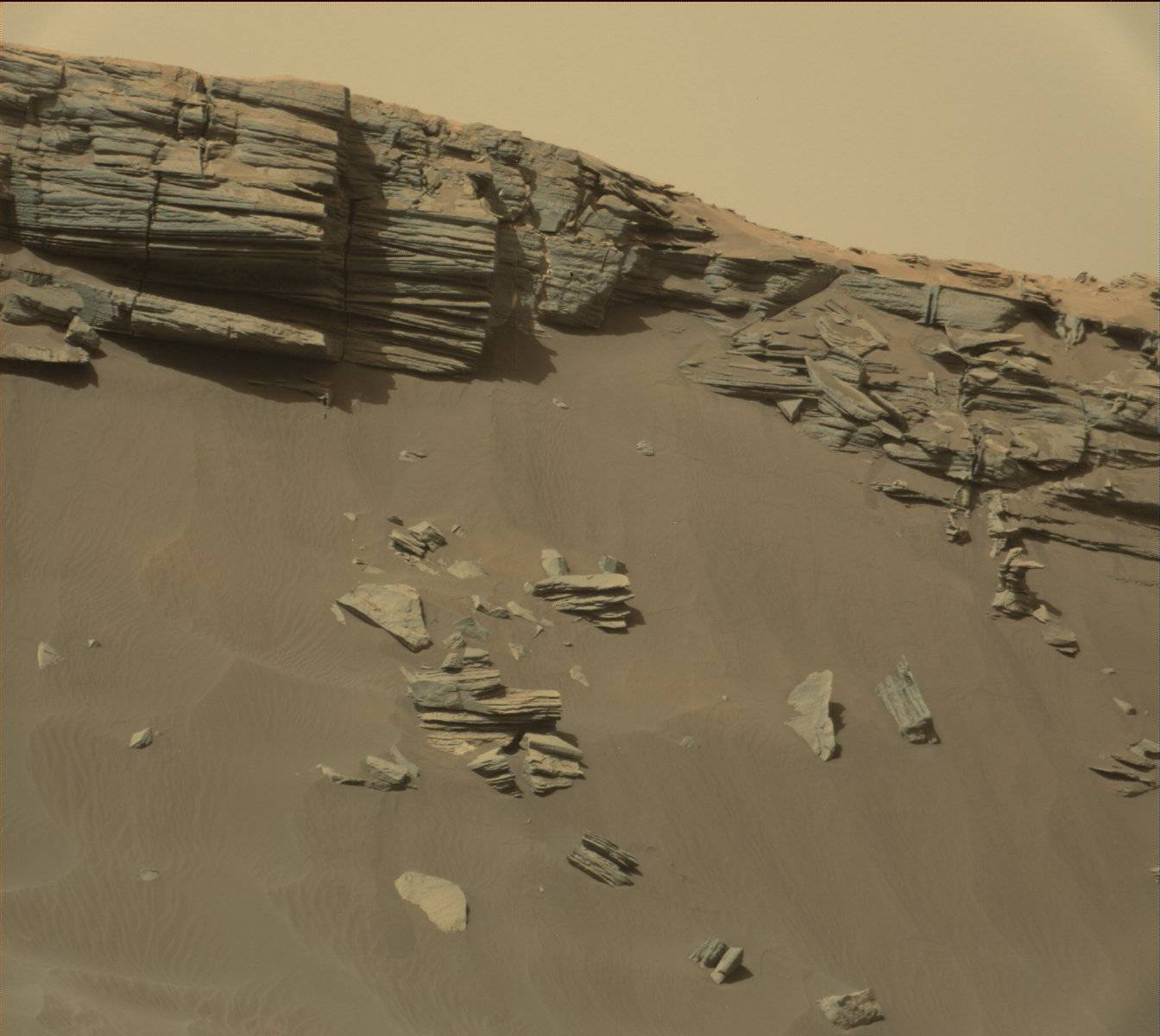 Nasa's Mars rover Curiosity acquired this image using its Mast Camera (Mastcam) on Sol 1381