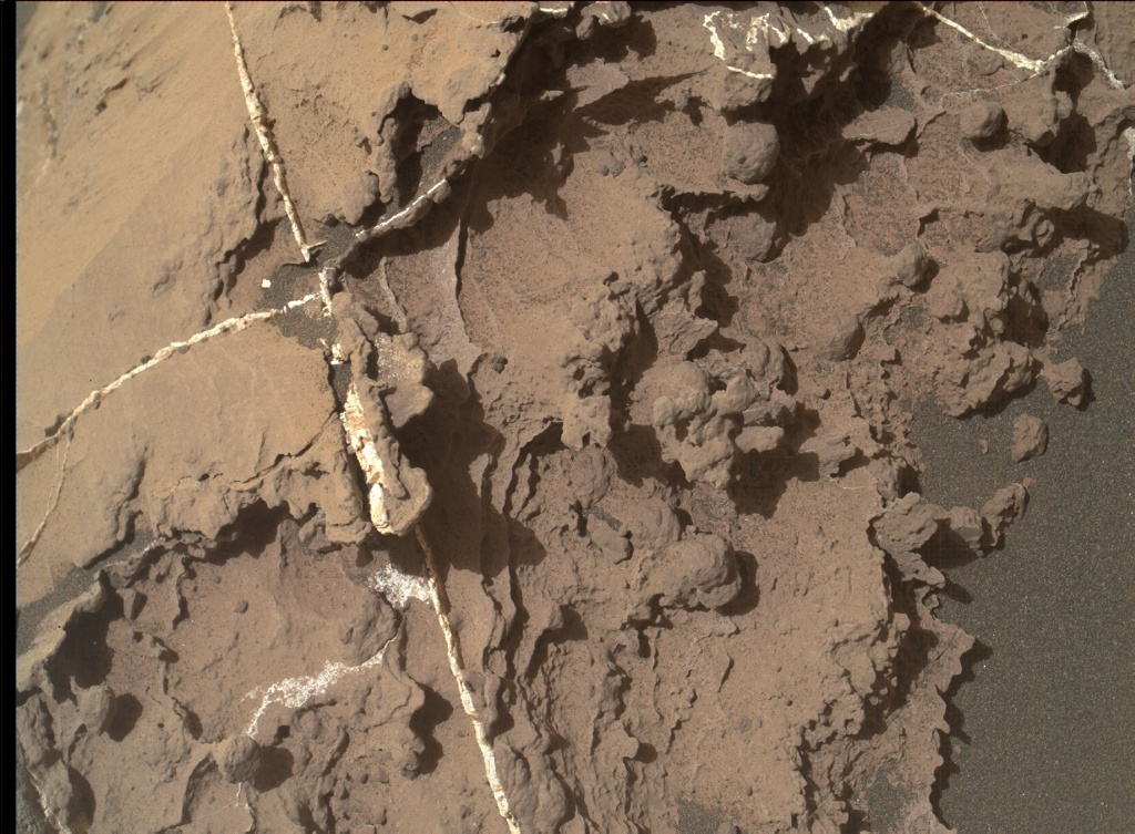 NASA's Mars rover Curiosity acquired this image using its Mars Hand Lens Imager (MAHLI) on Sol 1454