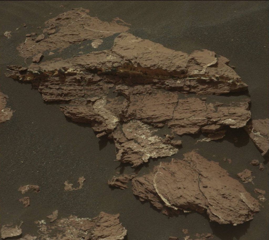 NASA's Mars rover Curiosity acquired this image using its Mast Camera (Mastcam) on Sol 1550