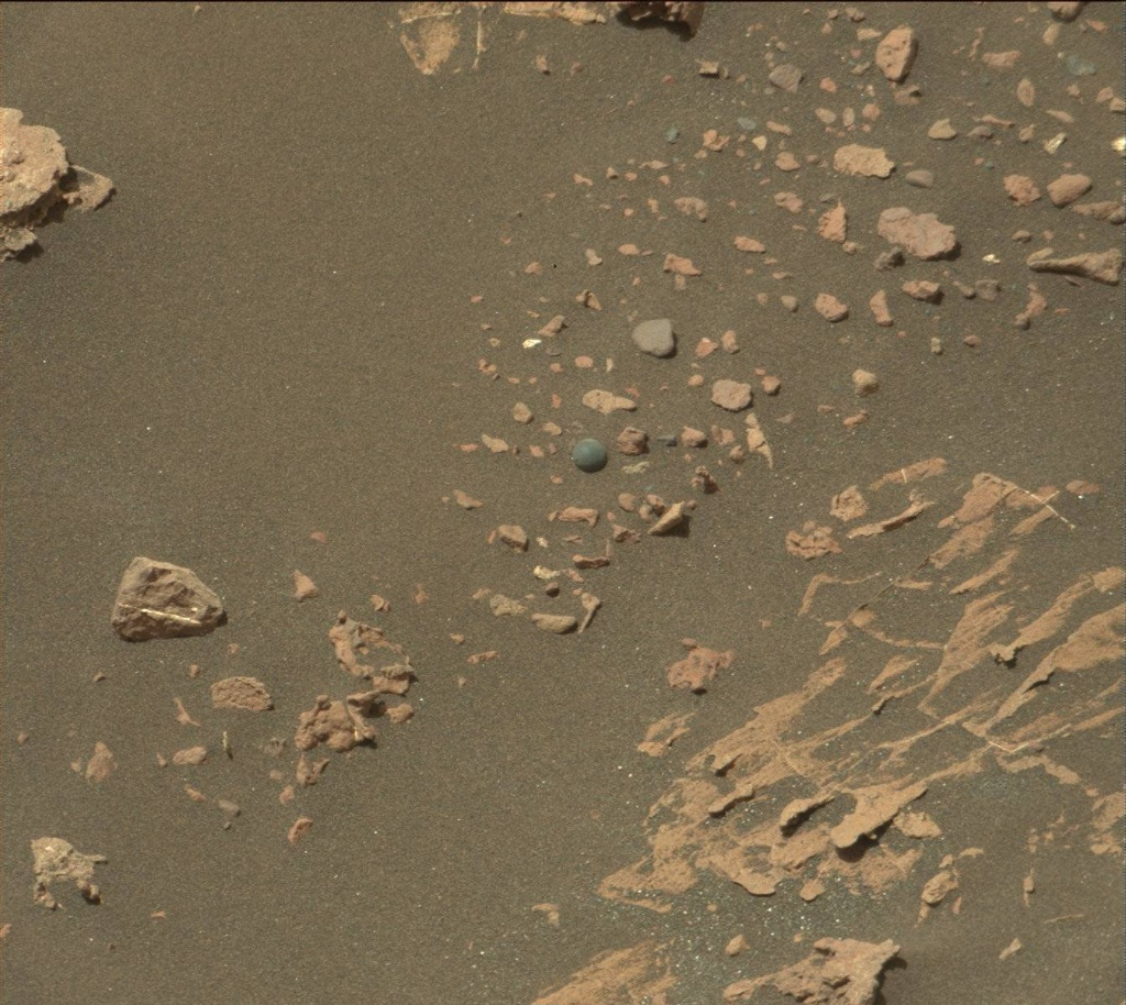 NASA's Mars rover Curiosity acquired this image using its Mast Camera (Mastcam) on Sol 1571