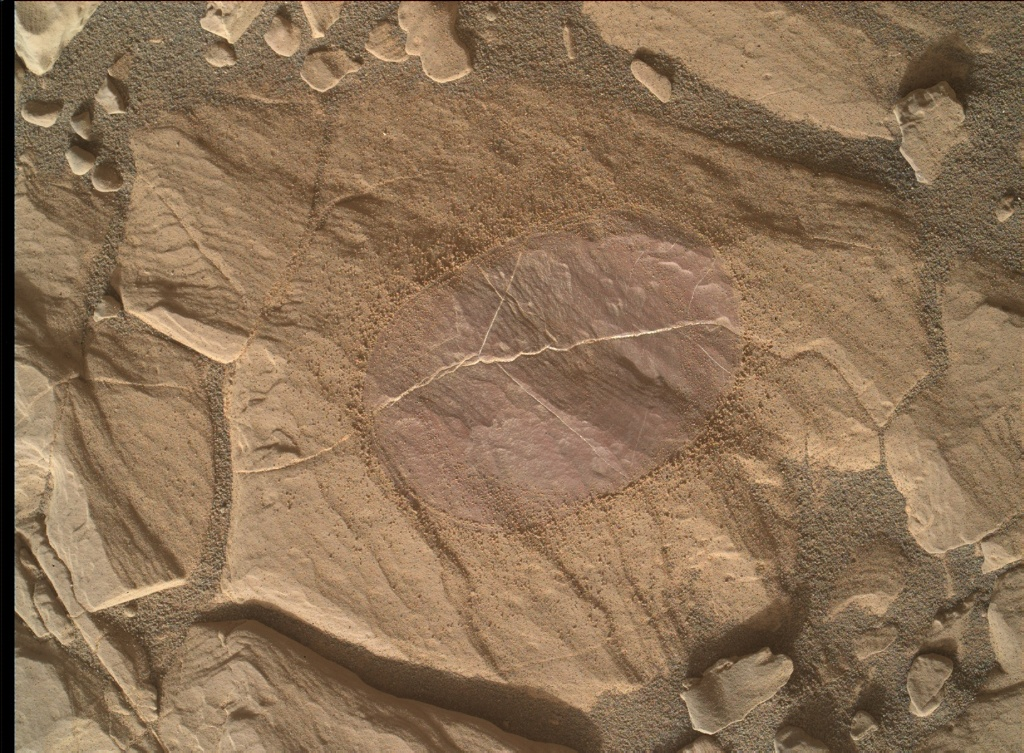 NASA's Mars rover Curiosity acquired this image using its Mars Hand Lens Imager (MAHLI) on Sol 1818