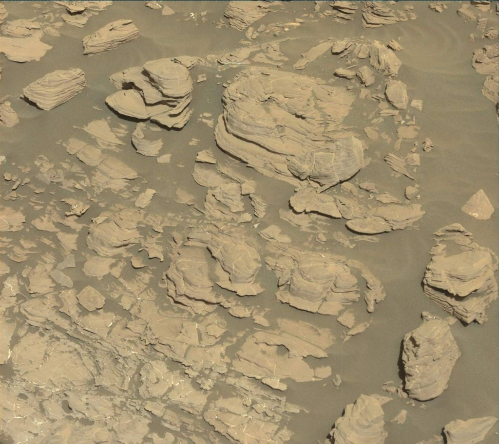 NASA's Mars rover Curiosity acquired this image using its Mast Camera (Mastcam) on Sol 1923