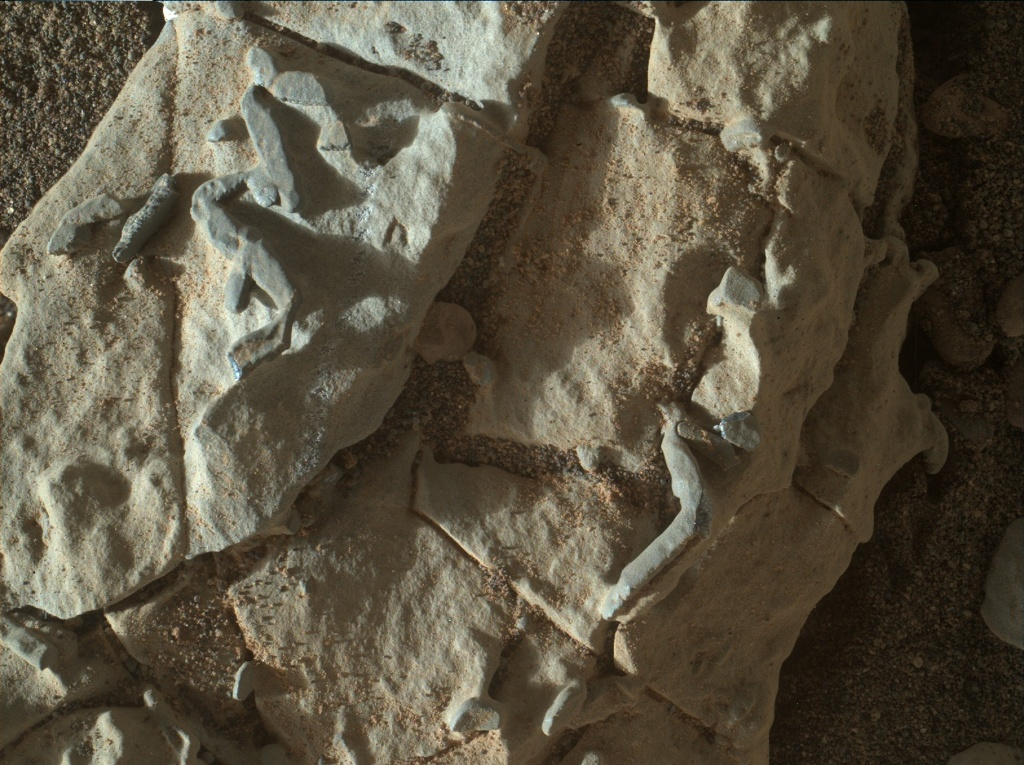 NASA's Mars rover Curiosity acquired this image using its Mars Hand Lens Imager (MAHLI) on Sol 1923