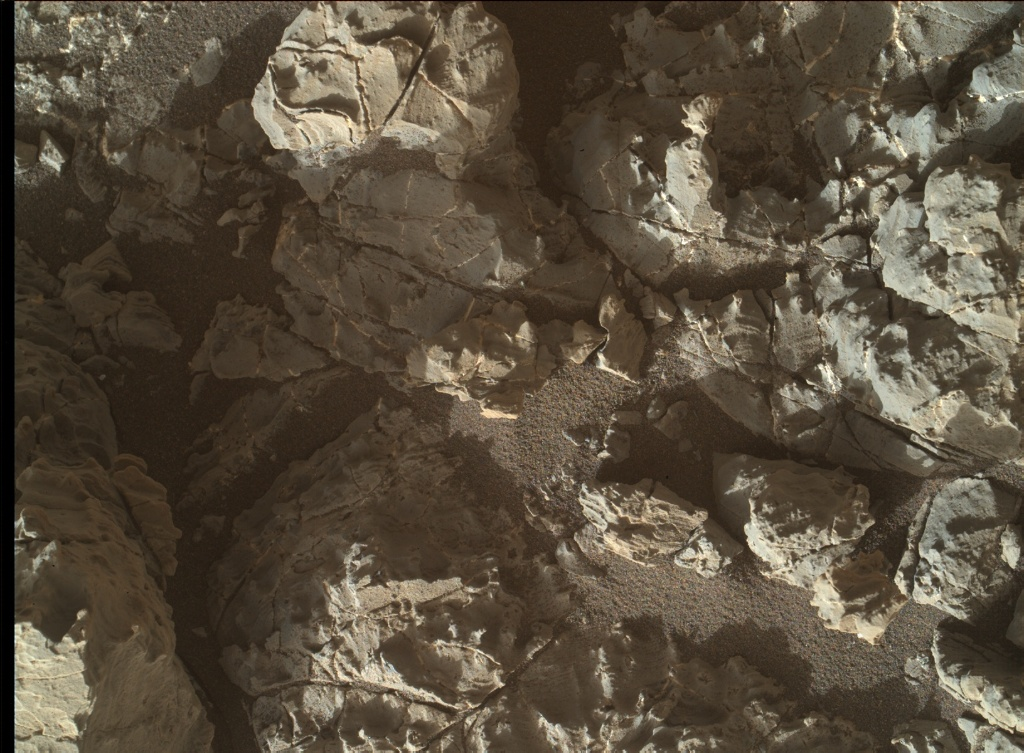 NASA's Mars rover Curiosity acquired this image using its Mars Hand Lens Imager (MAHLI) on Sol 1932