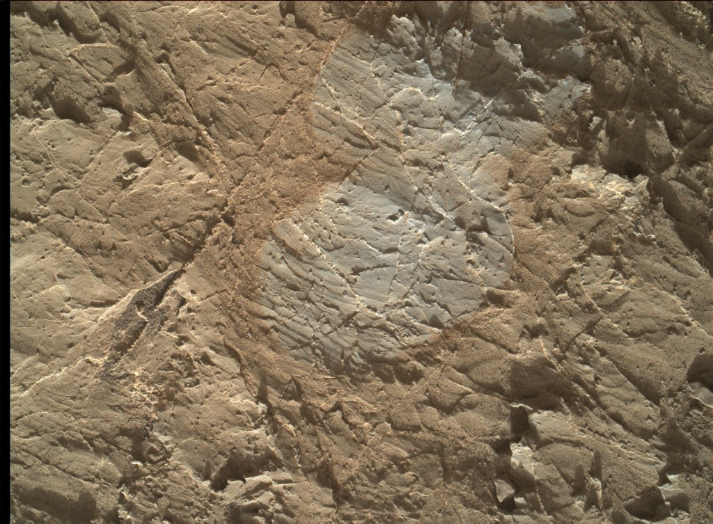 NASA's Mars rover Curiosity acquired this image using its Mars Hand Lens Imager (MAHLI) on Sol 1966