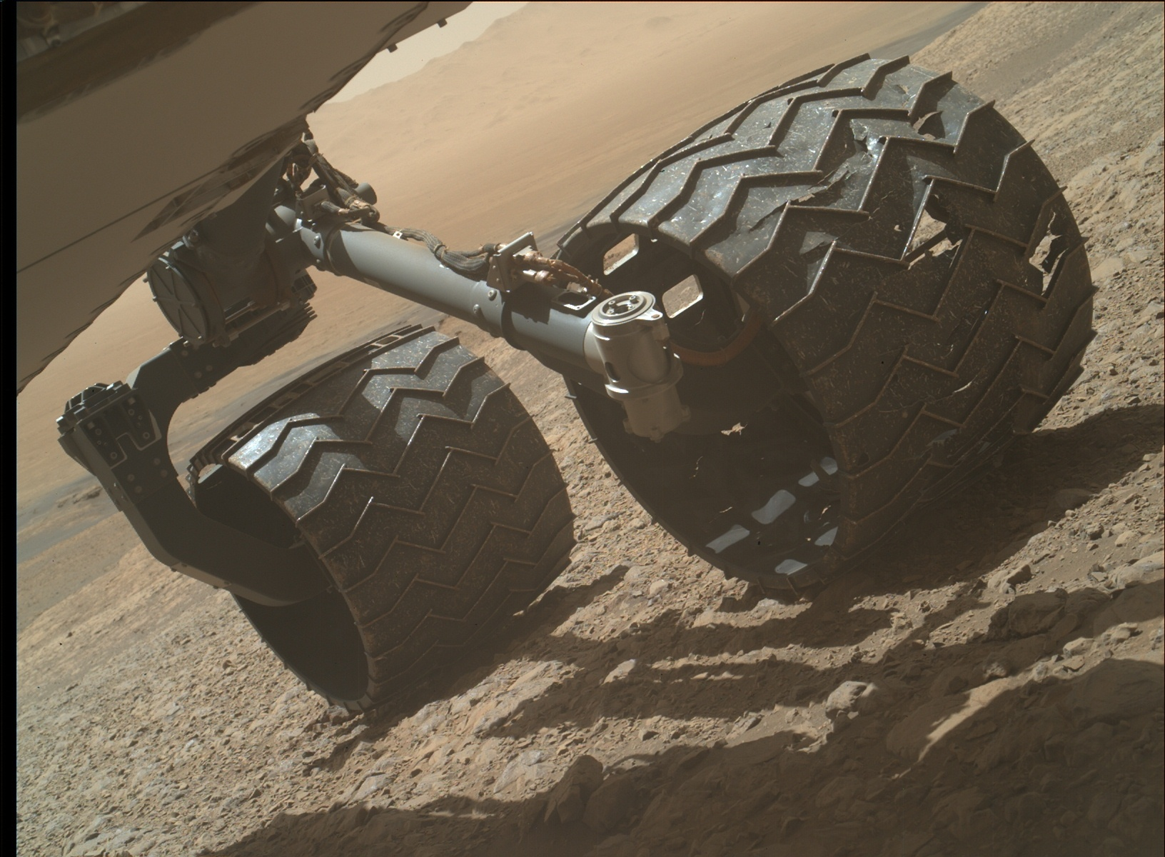 Nasa's Mars rover Curiosity acquired this image using its Mars Hand Lens Imager (MAHLI) on Sol 1989