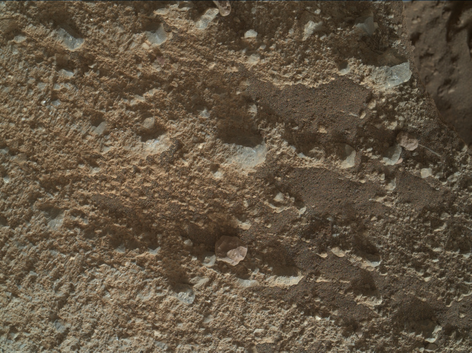 Nasa's Mars rover Curiosity acquired this image using its Mars Hand Lens Imager (MAHLI) on Sol 2022