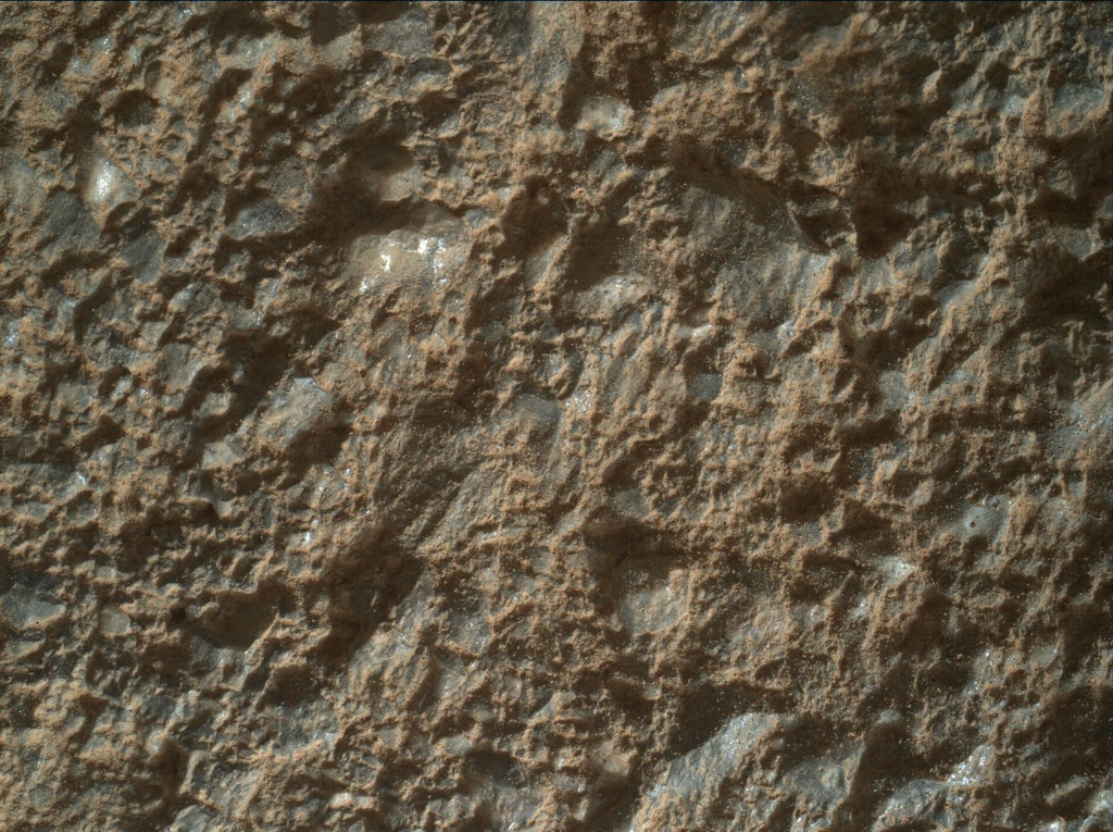 NASA's Mars rover Curiosity acquired this image using its Mars Hand Lens Imager (MAHLI) on Sol 2023