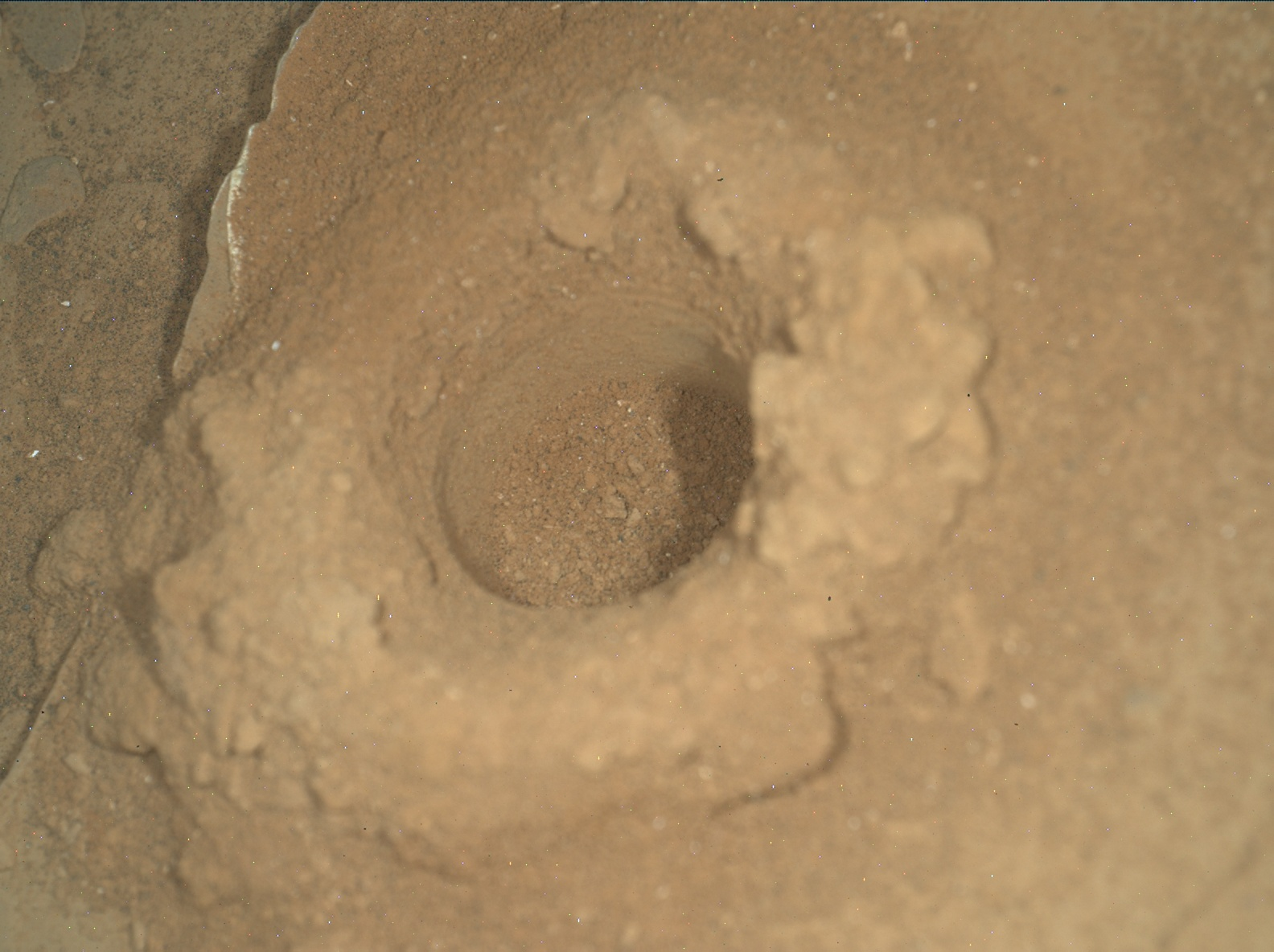 Nasa's Mars rover Curiosity acquired this image using its Mars Hand Lens Imager (MAHLI) on Sol 2081