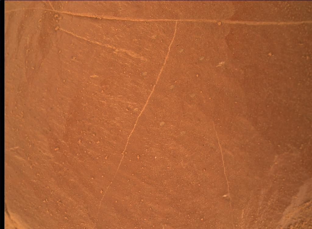 NASA's Mars rover Curiosity acquired this image using its Mars Hand Lens Imager (MAHLI) on Sol 2102