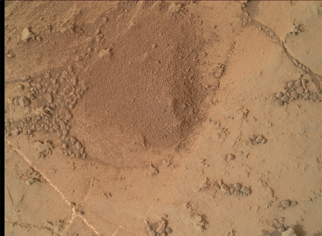 NASA's Mars rover Curiosity acquired this image using its Mars Hand Lens Imager (MAHLI) on Sol 2154