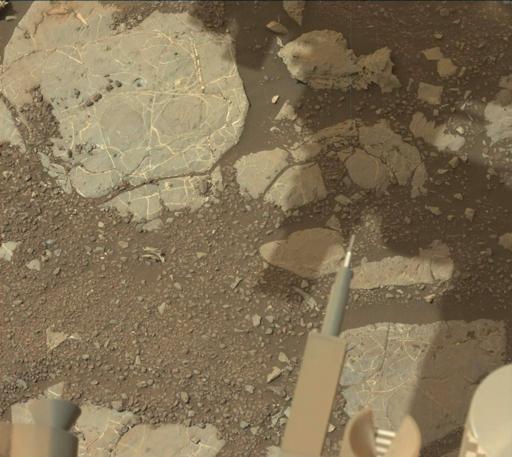 NASA's Mars rover Curiosity acquired this image using its Mast Camera (Mastcam) on Sol 2214