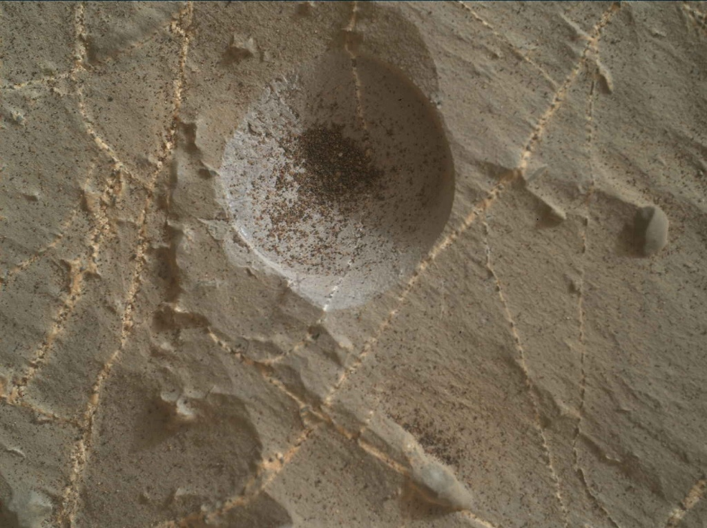 NASA's Mars rover Curiosity acquired this image using its Mars Hand Lens Imager (MAHLI) on Sol 2217