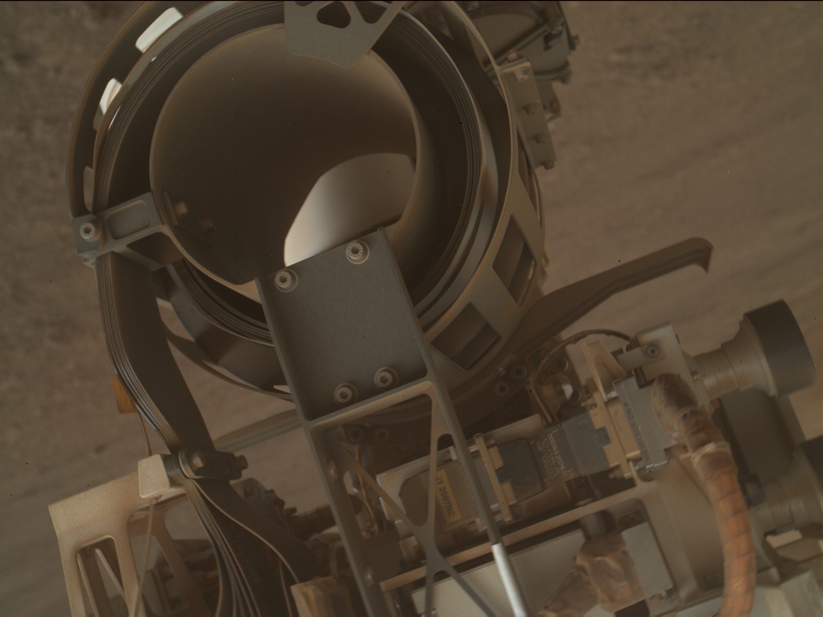 Nasa's Mars rover Curiosity acquired this image using its Mars Hand Lens Imager (MAHLI) on Sol 2250