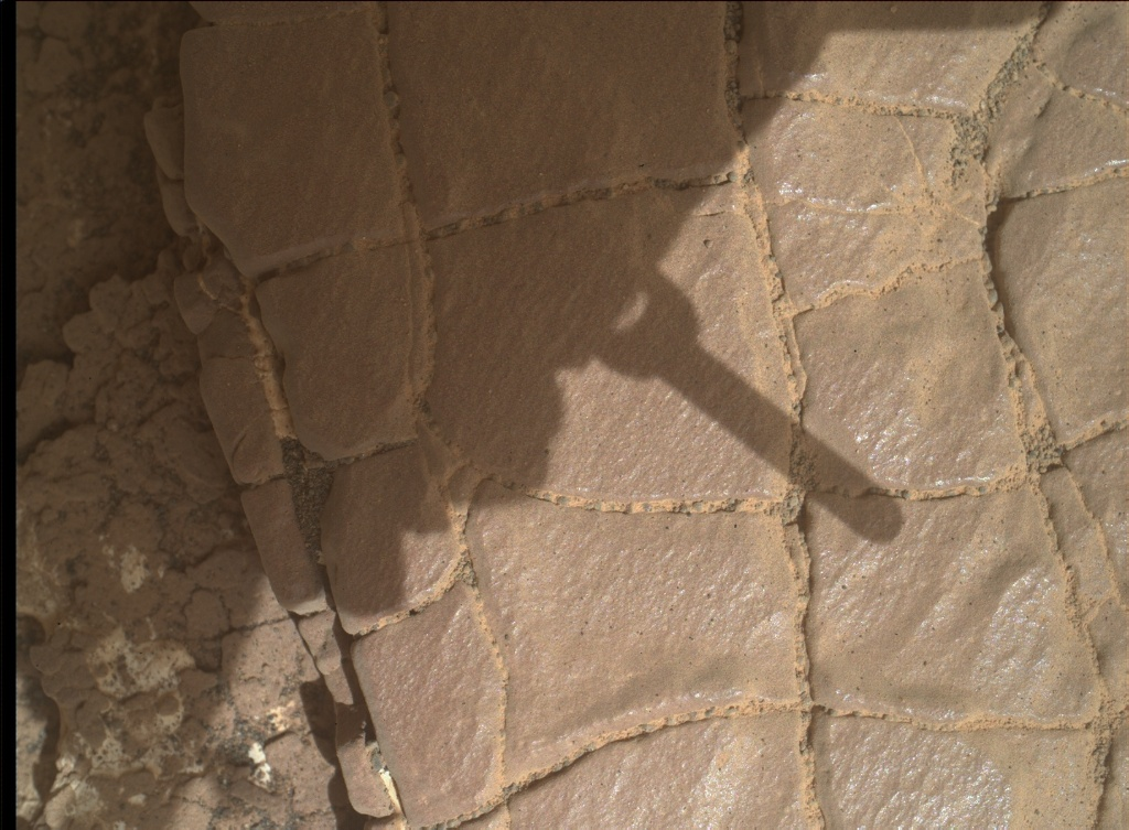 NASA's Mars rover Curiosity acquired this image using its Mars Hand Lens Imager (MAHLI) on Sol 2422