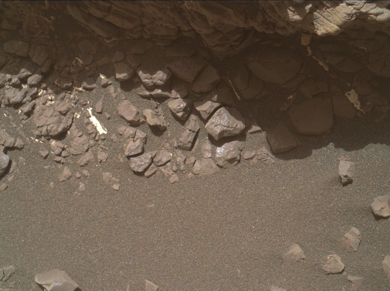 Nasa's Mars rover Curiosity acquired this image using its Mars Hand Lens Imager (MAHLI) on Sol 2452