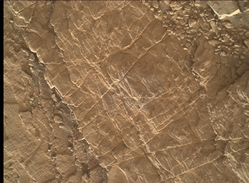 NASA's Mars rover Curiosity acquired this image using its Mars Hand Lens Imager (MAHLI) on Sol 2482