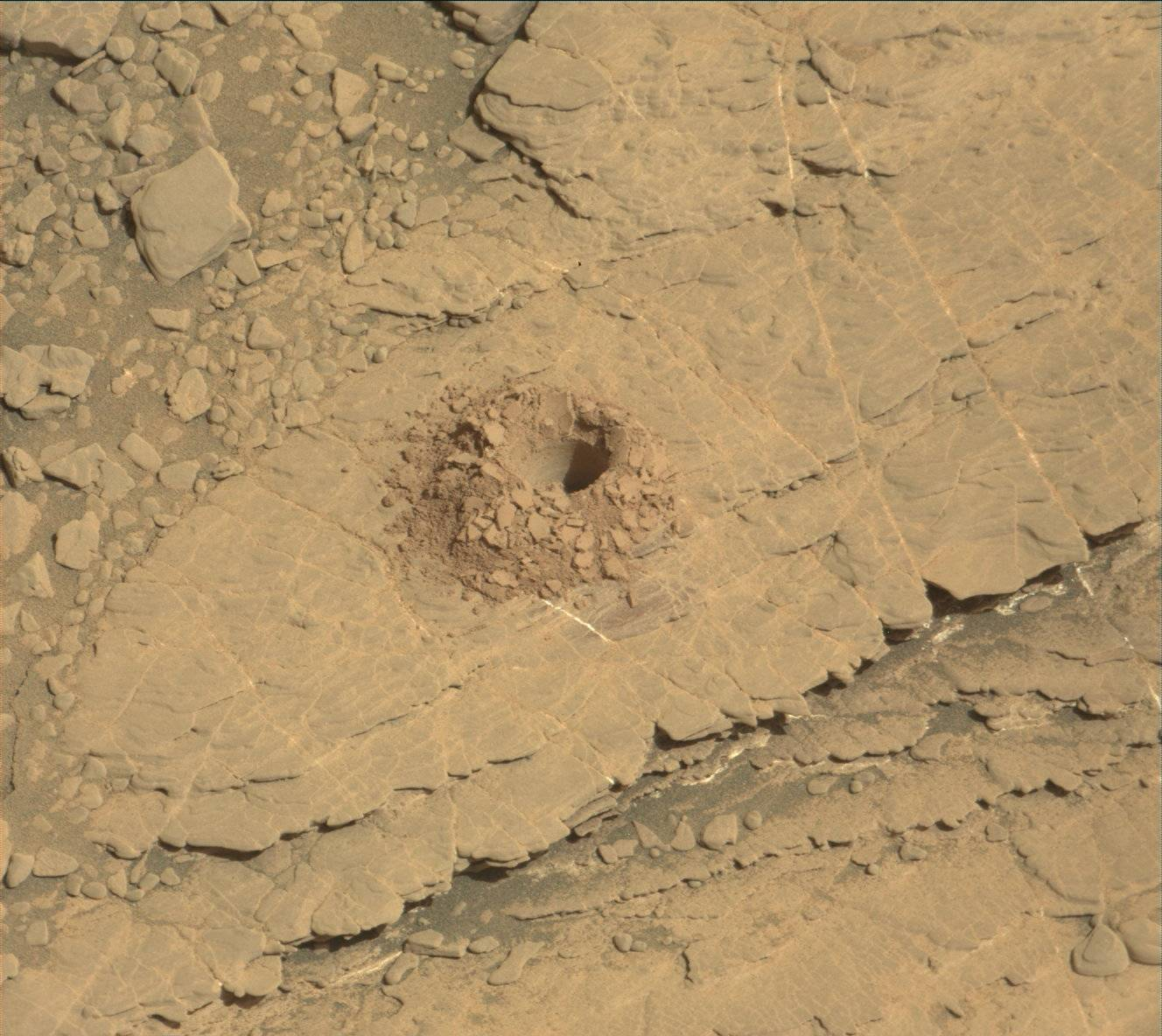 Sol 2488: Success on the 22nd Drill Hole; Happy Landing Day--On to Year 8!