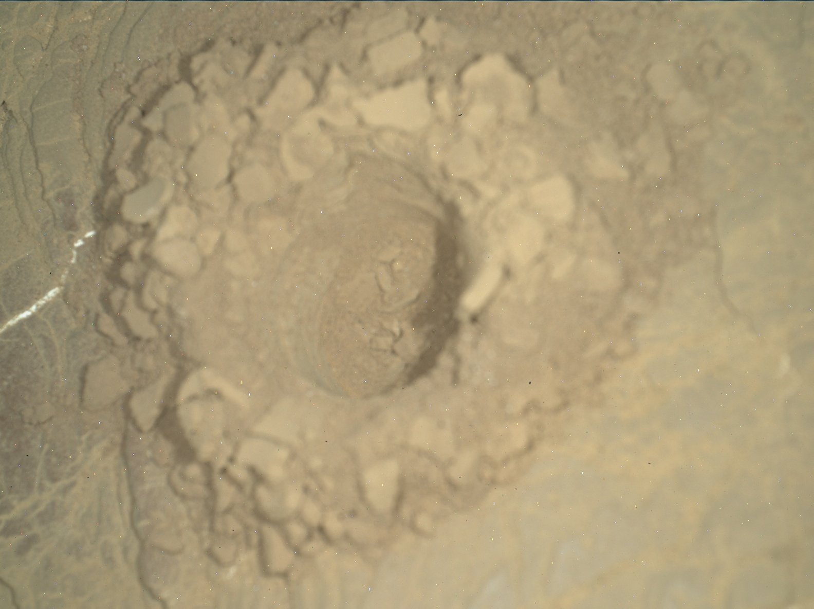 Nasa's Mars rover Curiosity acquired this image using its Mars Hand Lens Imager (MAHLI) on Sol 2524