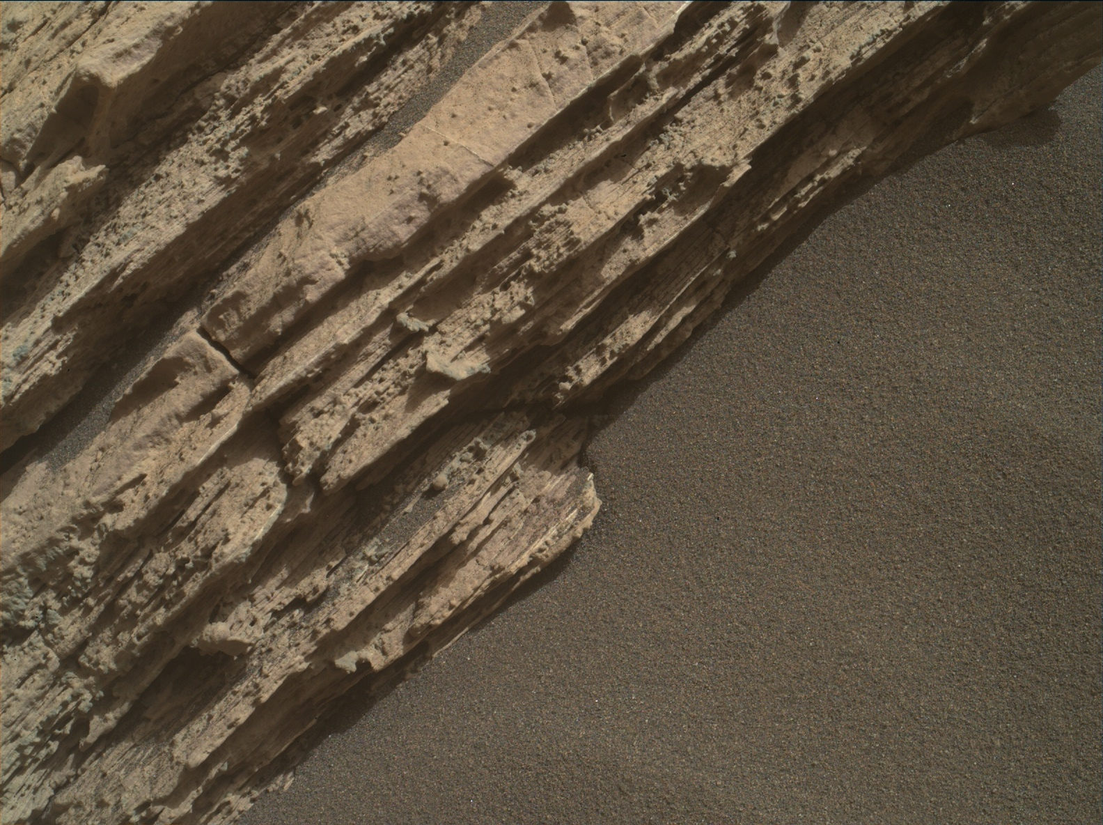 Nasa's Mars rover Curiosity acquired this image using its Mars Hand Lens Imager (MAHLI) on Sol 2586