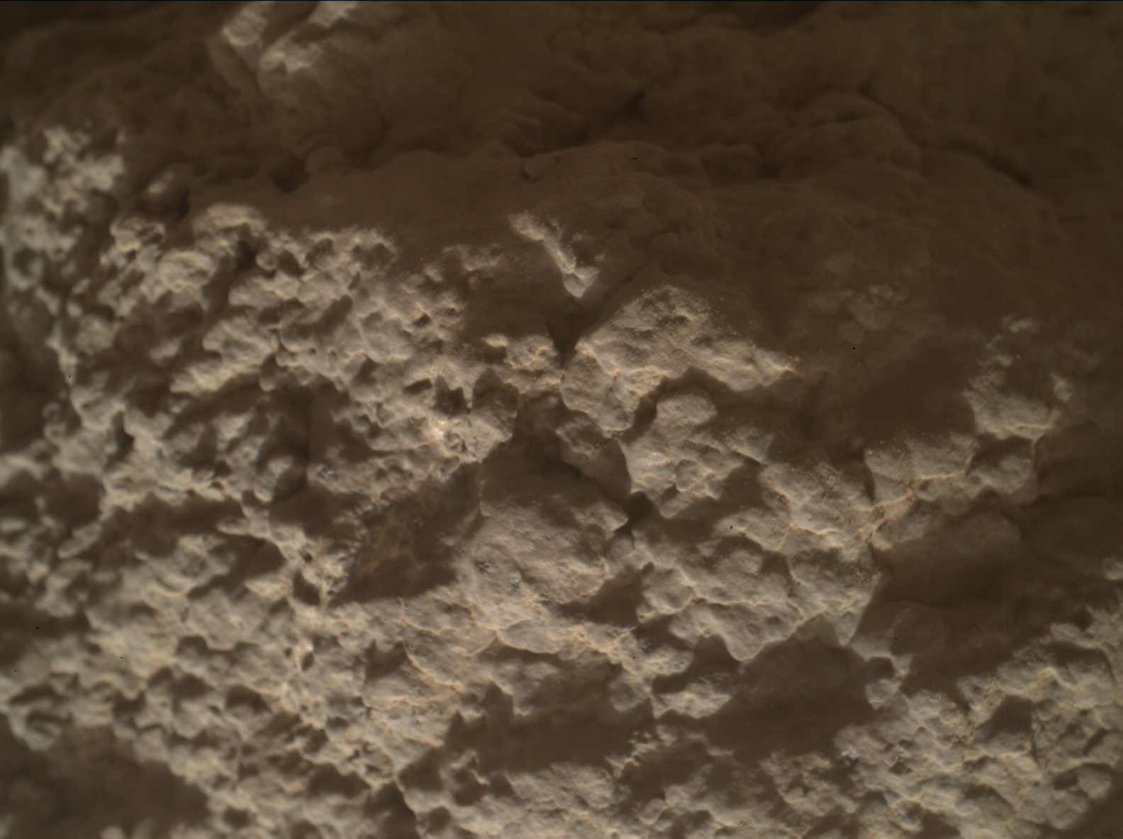 Nasa's Mars rover Curiosity acquired this image using its Mars Hand Lens Imager (MAHLI) on Sol 2587