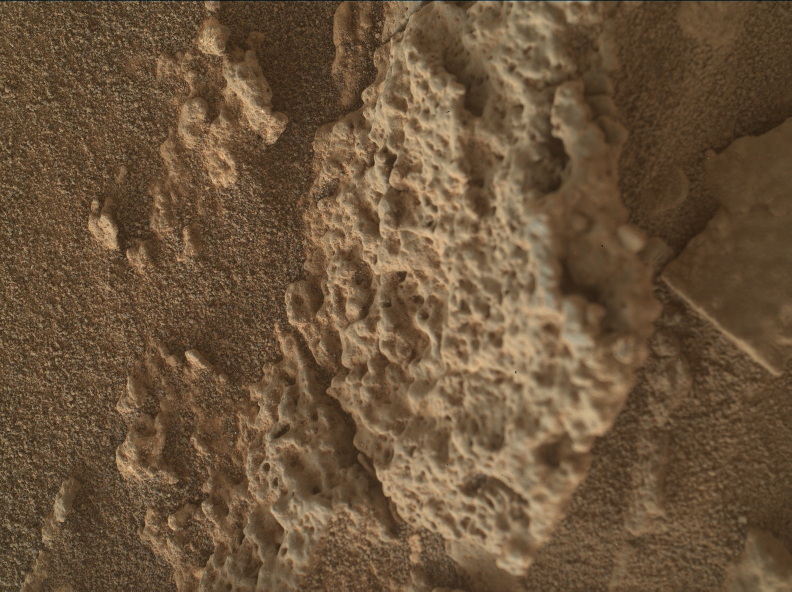Nasa's Mars rover Curiosity acquired this image using its Mars Hand Lens Imager (MAHLI) on Sol 2642
