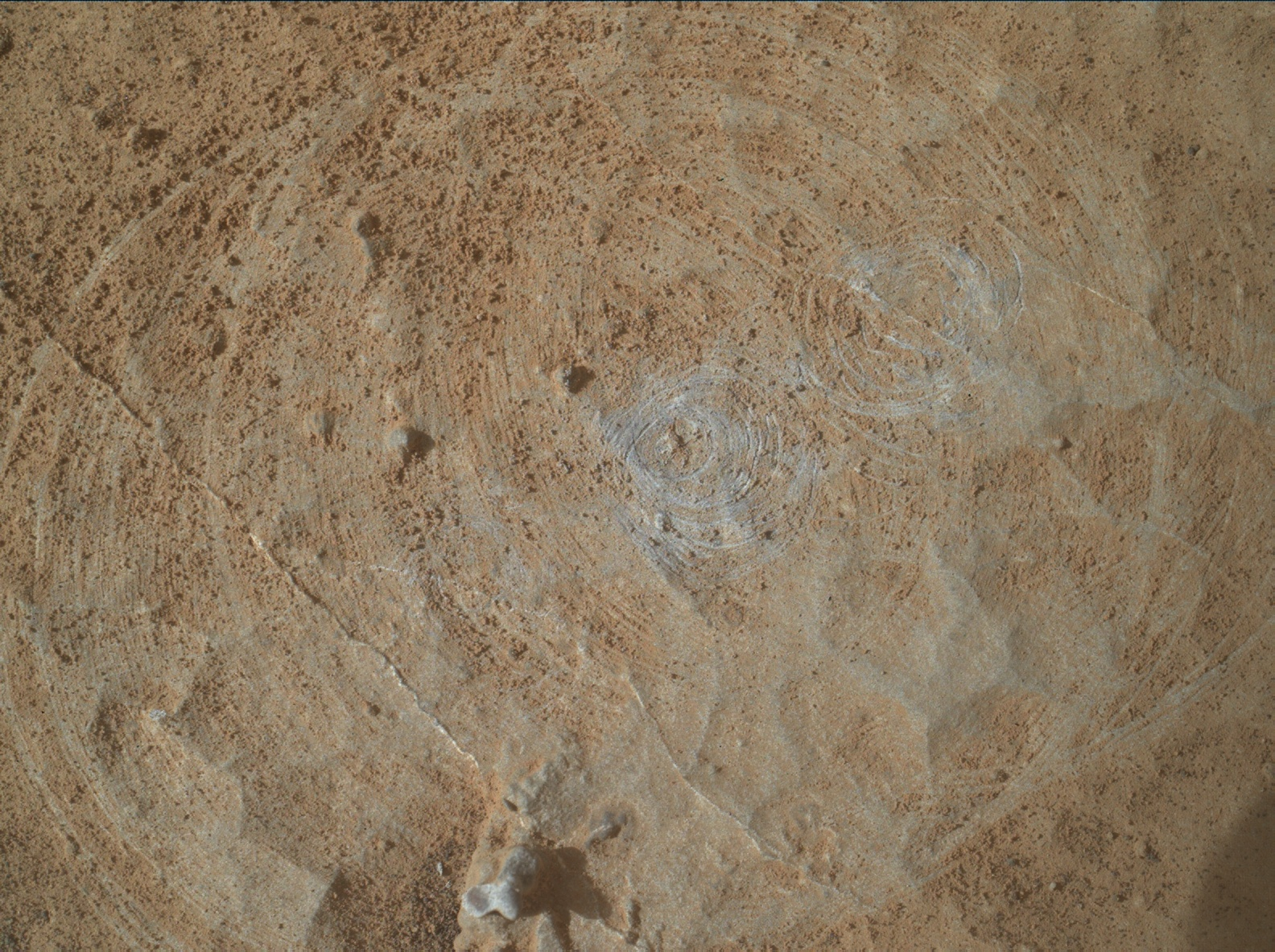 Nasa's Mars rover Curiosity acquired this image using its Mars Hand Lens Imager (MAHLI) on Sol 2660