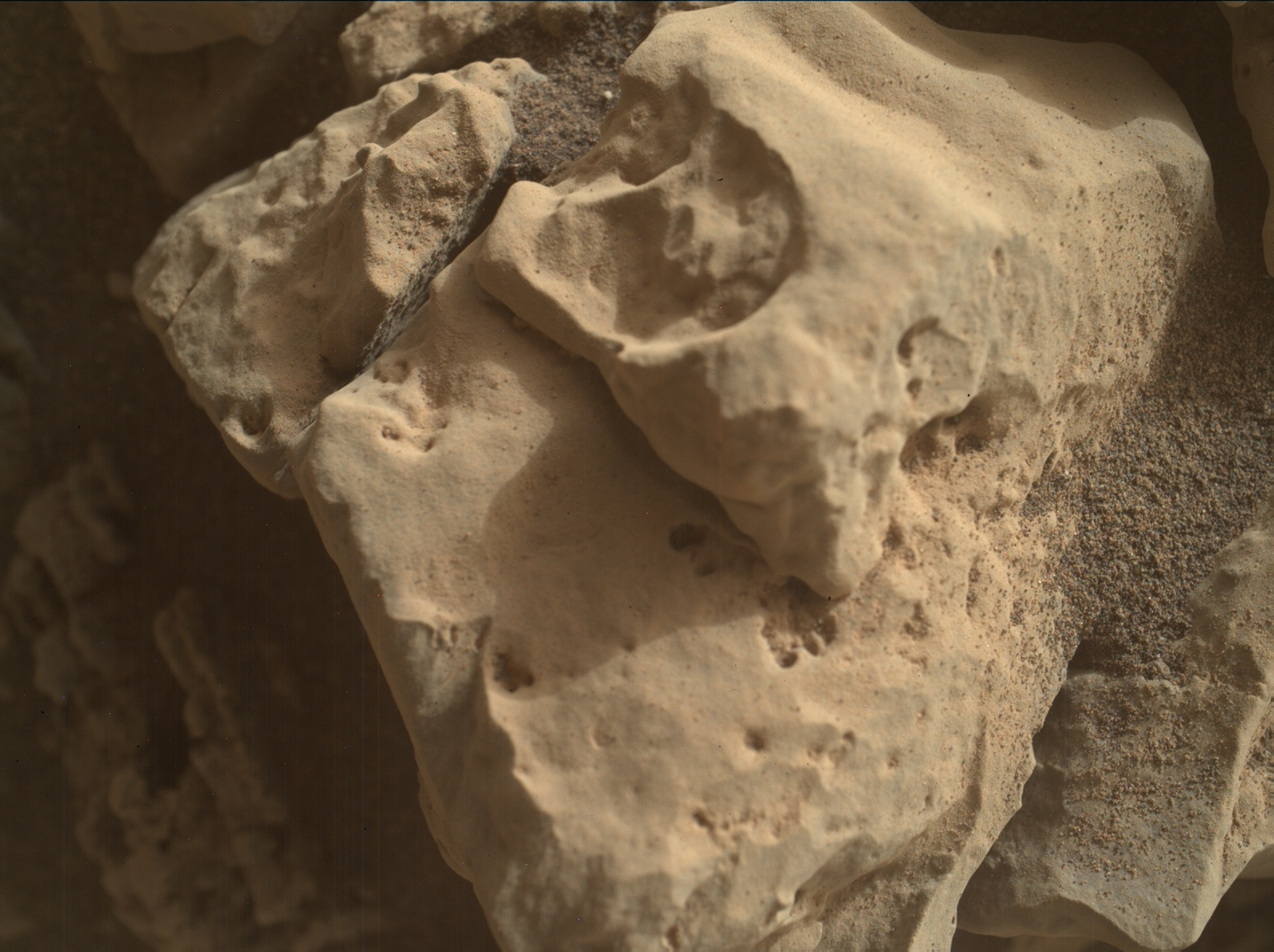 Nasa's Mars rover Curiosity acquired this image using its Mars Hand Lens Imager (MAHLI) on Sol 2690