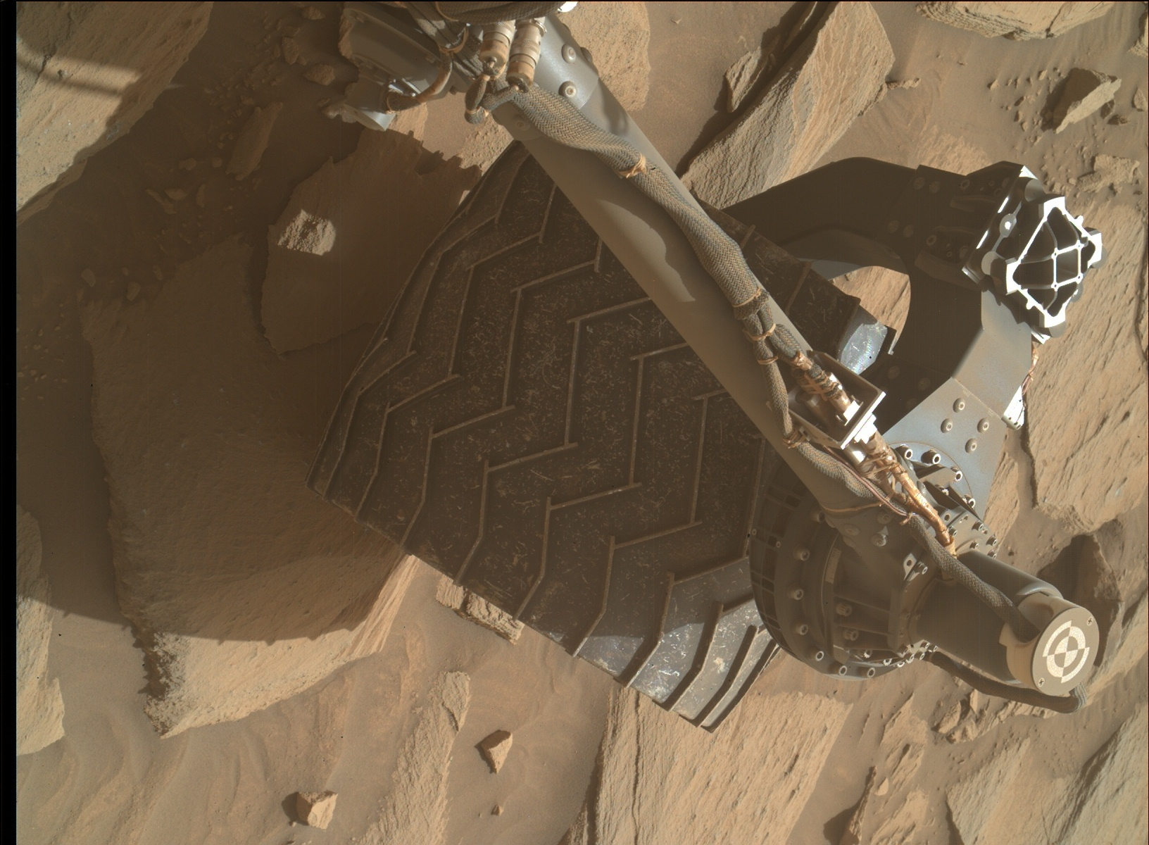 Nasa's Mars rover Curiosity acquired this image using its Mars Hand Lens Imager (MAHLI) on Sol 2732