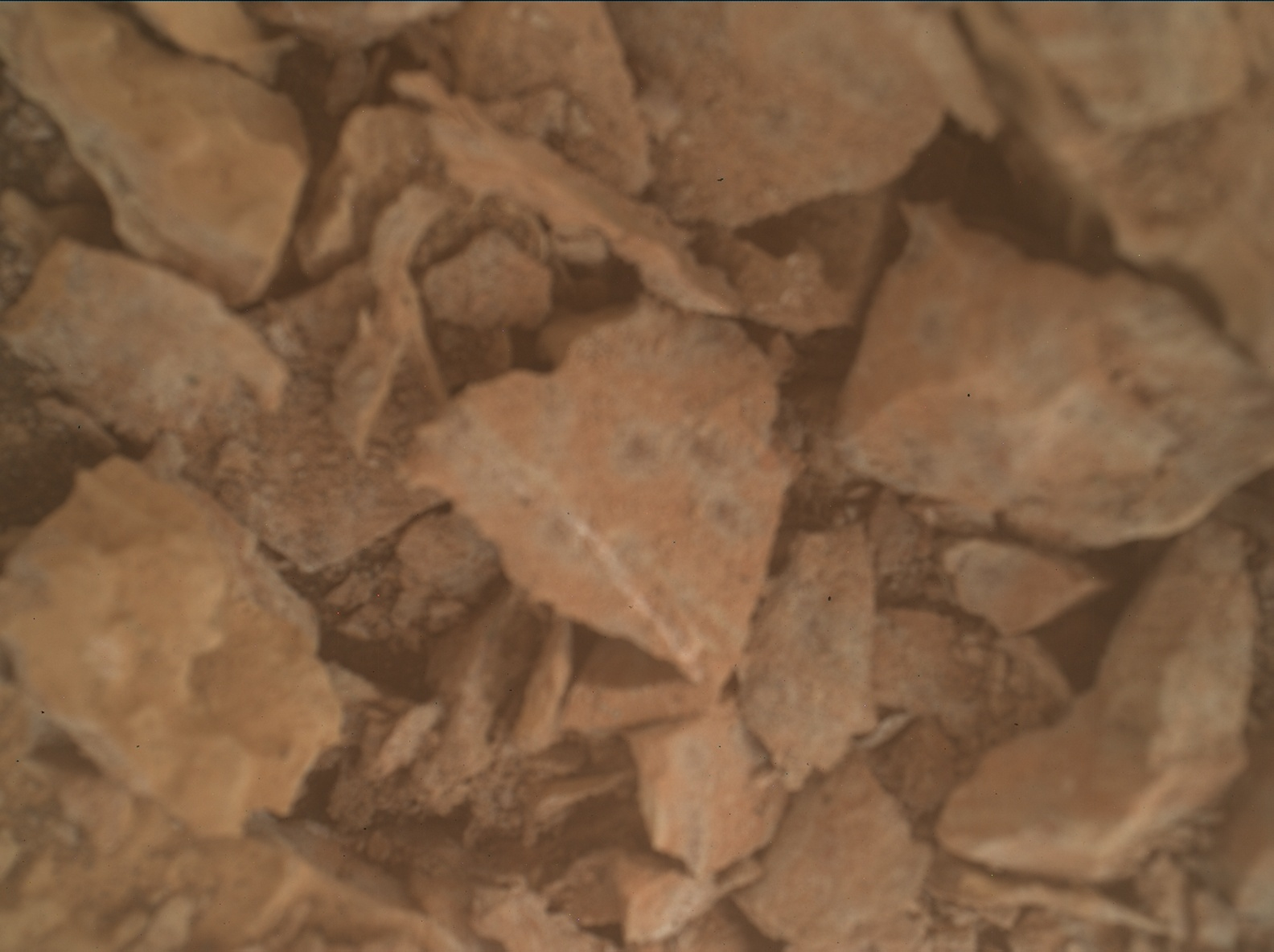 Nasa's Mars rover Curiosity acquired this image using its Mars Hand Lens Imager (MAHLI) on Sol 3110