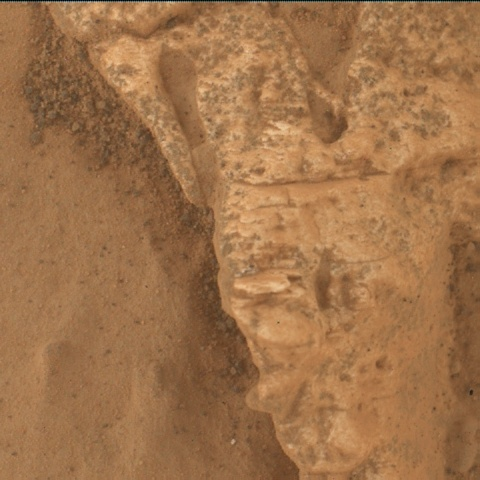 Nasa's Mars rover Curiosity acquired this image using its Mars Hand Lens Imager (MAHLI) on Sol 3117