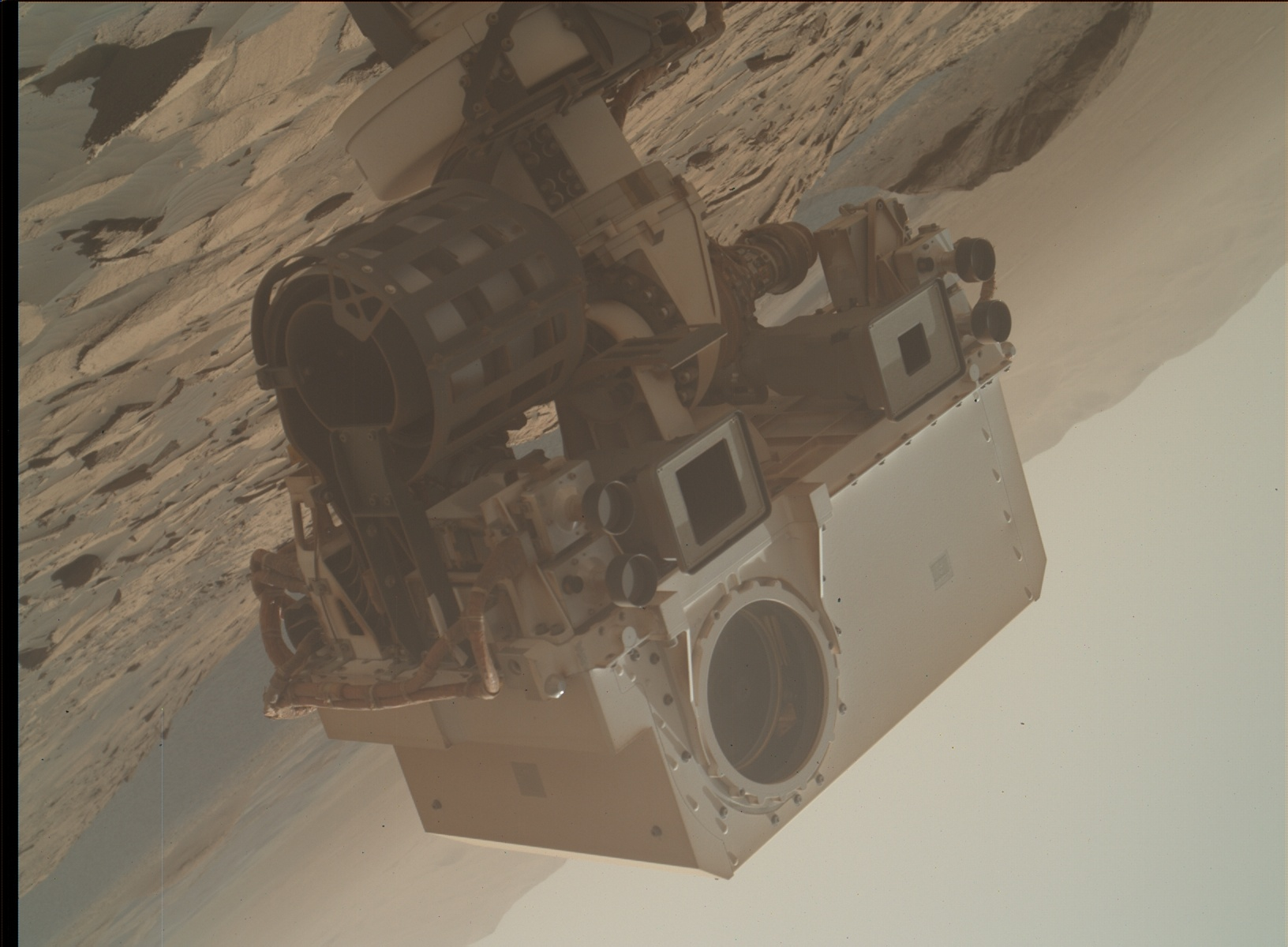 Nasa's Mars rover Curiosity acquired this image using its Mars Hand Lens Imager (MAHLI) on Sol 3215