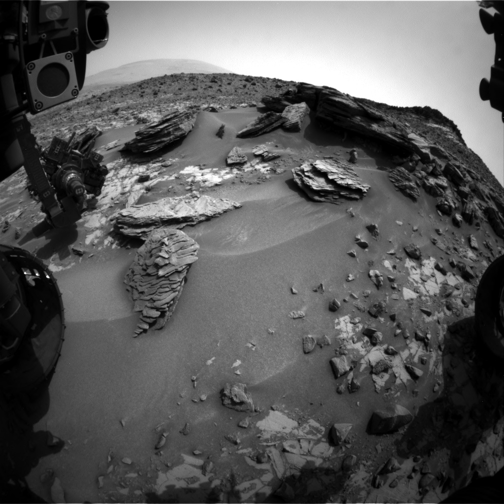 Nasa's Mars rover Curiosity acquired this image using its Front Hazard Avoidance Camera (Front Hazcam) on Sol 845, at drive 2414, site number 44