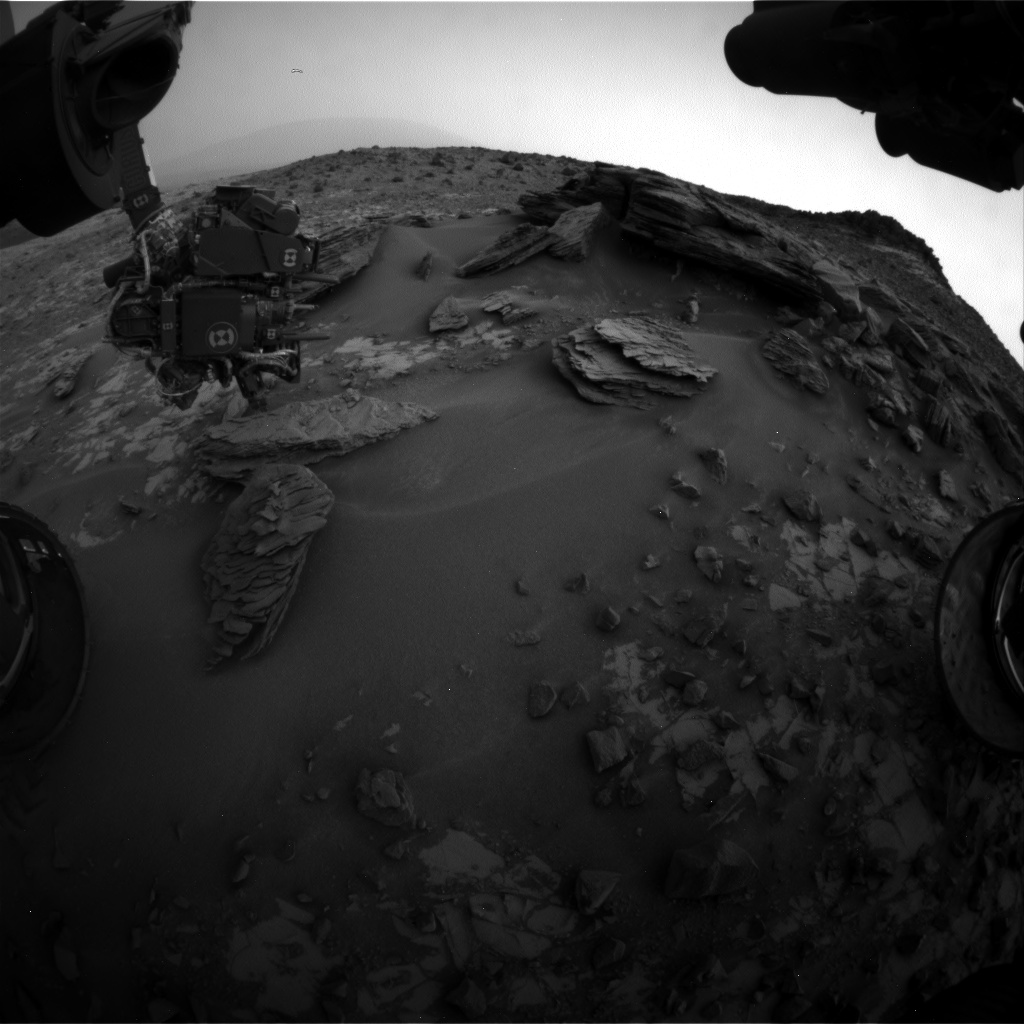 Nasa's Mars rover Curiosity acquired this image using its Front Hazard Avoidance Camera (Front Hazcam) on Sol 853, at drive 2414, site number 44