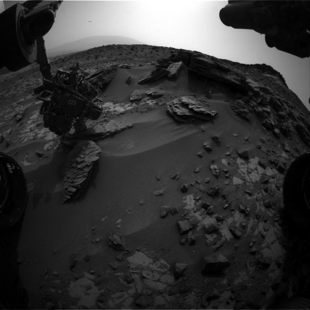 Nasa's Mars rover Curiosity acquired this image using its Front Hazard Avoidance Camera (Front Hazcam) on Sol 854, at drive 2414, site number 44