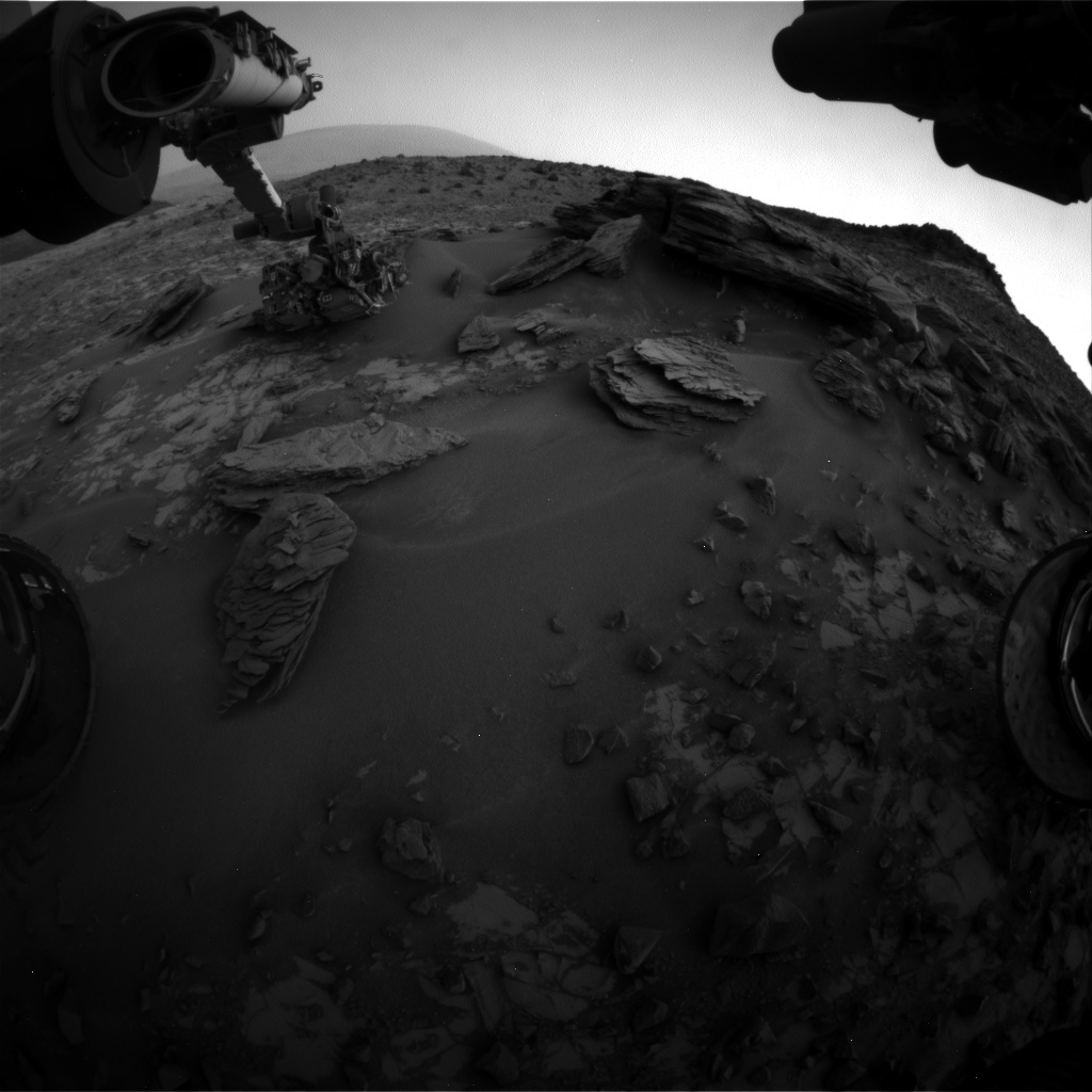 Nasa's Mars rover Curiosity acquired this image using its Front Hazard Avoidance Camera (Front Hazcam) on Sol 855, at drive 2414, site number 44