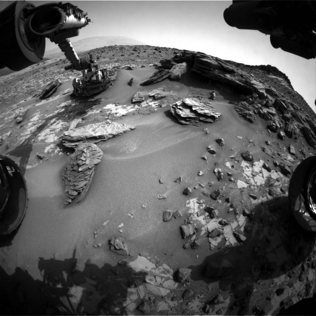 Nasa's Mars rover Curiosity acquired this image using its Front Hazard Avoidance Camera (Front Hazcam) on Sol 860, at drive 2414, site number 44